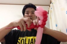 バルーンアートの作り方 いもむし How to make green caterpillar of the balloon art