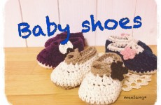 How to crochet a baby shoes (4/4) ベビーシューズの編み方 by meetang
