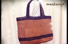 How to crochet a bag 1/3バッグの編み方 1/3